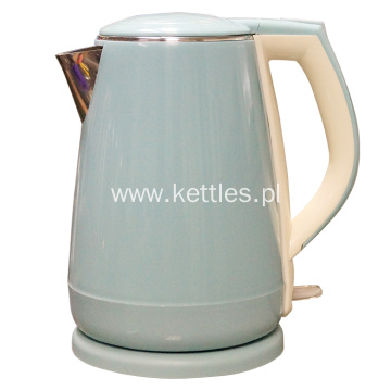 Cordless plastic with stainless steel electric kettle